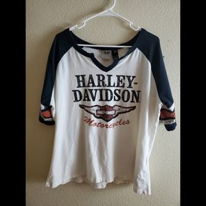 Harley Davidson 2X Womens Blouse Top